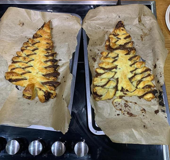 Nutella Christmas Trees for Oldham Guides
